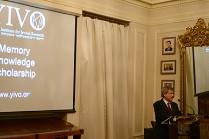 Jonathan Brent leads the Fleischman Lecture at the Embassy of the Republic of Poland.