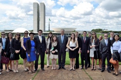 GW students and GSPM Director Mark Kennedy in Brazil