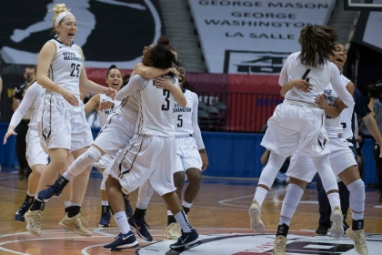 GW Women's Basketball Wins Back-to-Back Atlantic 10 Championships