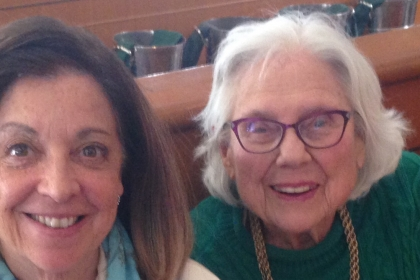 Dianne Sherman and Jane Highsaw celebrate Ms. Highsaw's 95th birthday. (Courtesy Dianne Sherman)