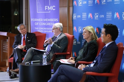 Panelists Robert Gee, David Shambaugh, Madelyn Ross and Nien Su discussed the fraying Sino-American relationship.