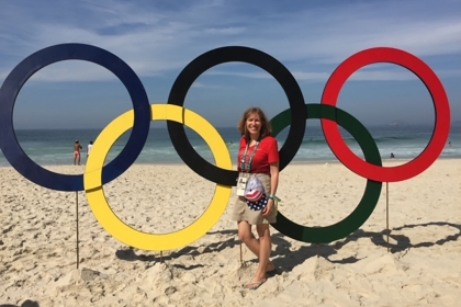 Professor Lisa Delpy Neirotti at 2016 Olympic Games.