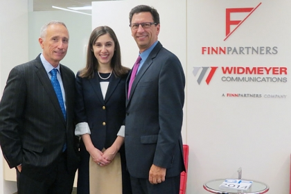 Scott Widmeyer, Laura Shuey-Kostelac and Frank Sesno.