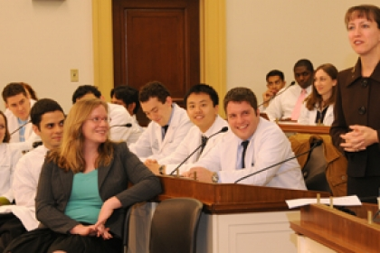 medical students at Capitol Hill event