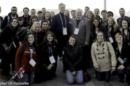 GW students tour main press centre during 2010 Olympics
