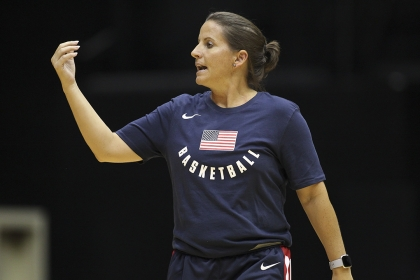 Colonials Women's Basketball Coach Jennifer Rizzotti