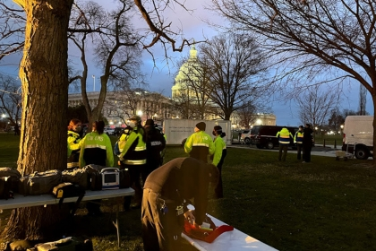 Student EMTs respond to Capitol riot