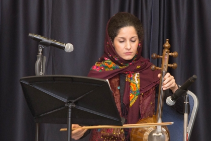 For the Interfaith Dinner's benediction, graduate student Rana Shieh combined Gregorian chant with Persian classical music.