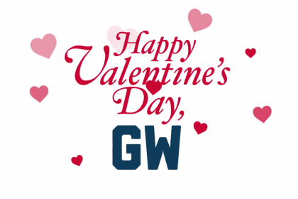 Happy Valentine's Day, GW with hearts surrounding