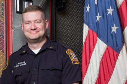 Firefighter Jason Woods. (Photo: Cafritz Foundation)