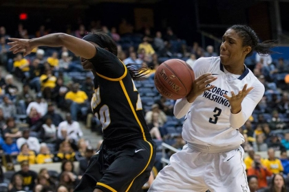 GW Women's Basketball Powers into A-10 Championship Game