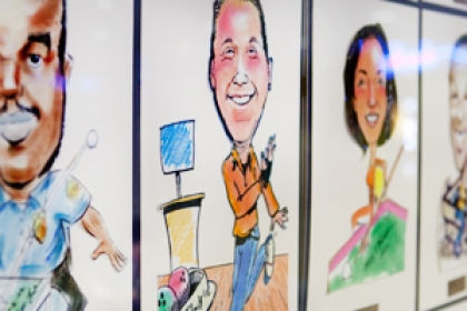 Wall of Fame caricatures