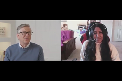 Bill Gates and Renea Williams