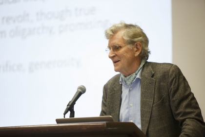 Robert Thurman, professor of Indo-Tibetan Buddhist Studies at Columbia University, delivered an afternoon keynote. (Logan Werlin