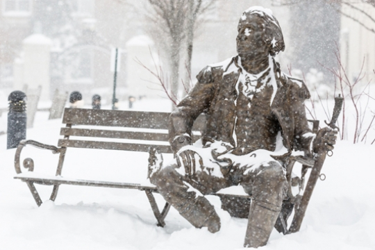 GW Gets to Work During Blizzard