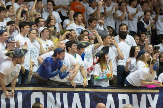 GW Crowd Cheers Big Win at Smith Center