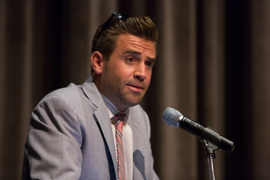 'The Hills' and 'Laguna Beach' star Jason Wahler at GW's Dorothy Marvin Betts Theatre. (Photo: William Atkins)
